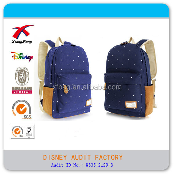 XF Hot Sale New Design Fashion Leisure High Class Student School Bag For College