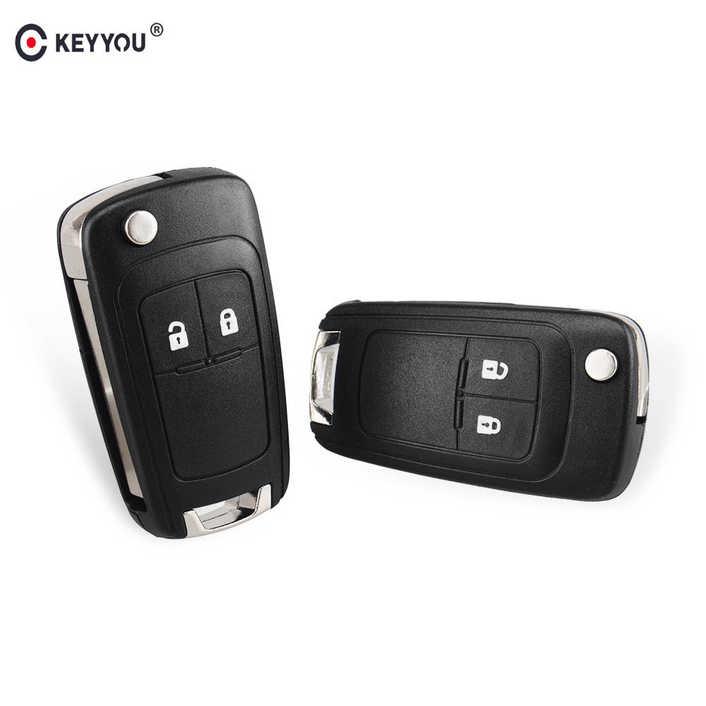 KEYYOU Flip Folding Remote Key Shell Fob Case 2 Buttons For Vauxhall Opel Astra <strong>H</strong> Insignia J Vectra C Zafira G HU100 Blade Ke