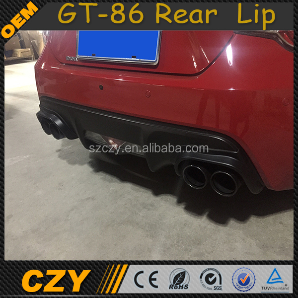 TRD Style Carbon GT-86 Rear Lip for Toyota GT86 Scion FR-S Sub aru BRZ