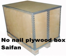Foldable Plywood Packaging Boxes Wooden Crate For Machine Packing