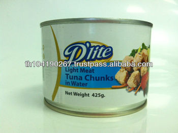 Canned Light Meat Tuna Chunks in Water (425 g)
