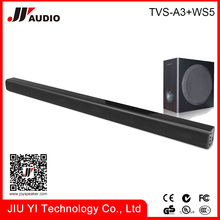 slim soundbar wall mountable plastic sound bar system with subwoofer Best Home Audio theater USB , line in , Aux in optical