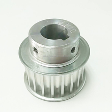 Aluminum HTD8M timing pulley 20 teeth bore 19mm in 6mm keyway
