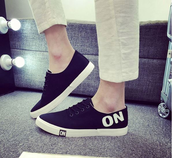 New style loafer shoes men fashion canvas casual shoes