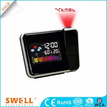Stylish digital projection day clock with radio control