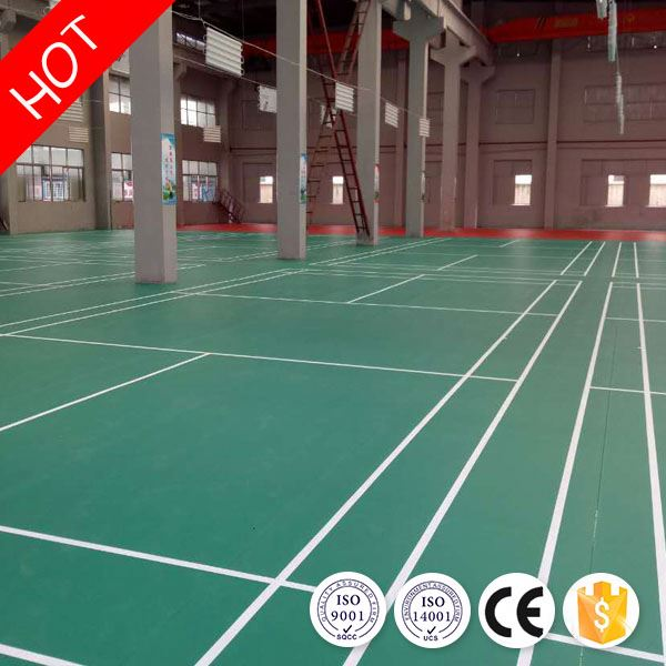 Various kinds health sound absorbing badminton court pvc floor for sale