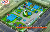 Outdoor Thrilling Inflatable Water Park Projects / inflatable water park construction