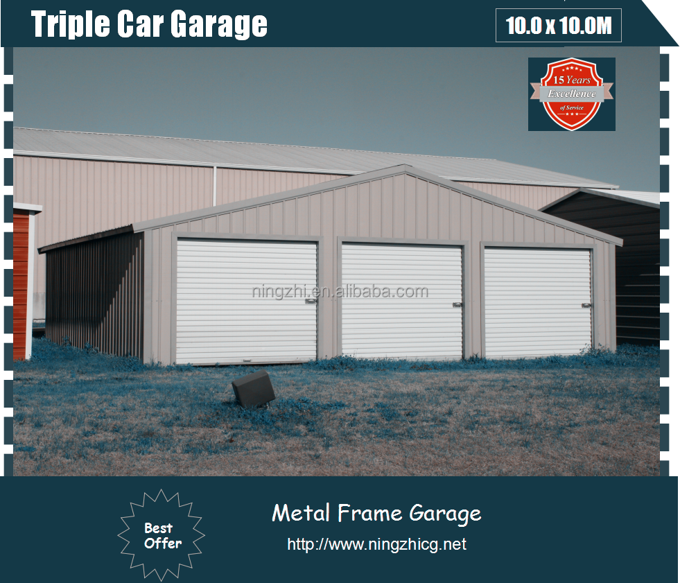 100 3 door garage welcome to ark custom buildings for Metal 3 car garage