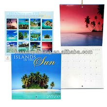 cheap printing wall calendar with saddle stitching binding