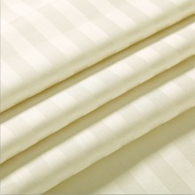 Top quality 100% cotton plain dyed combed 3cm stripe stain fabric for hotel