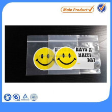 Top Sale Happy Face Printing Zipper Packaging Bag
