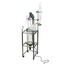 Chemical Jacketed Glass Reactor with Stirrer for Sale