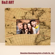 World Map Picture Box Frame China Import Items Decor Wooden Photo Frame