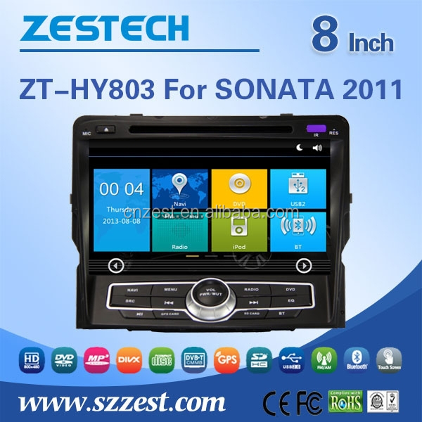 Hot selling car parts car dvd for hyundai sonata 2011 with BT/SWC/RDS/USB/RADIO/AUIDO