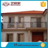 alibaba low price elegant used decorative latest modern pvc coated iron balcony fenluxury ornamental aluminum balcony balustrade