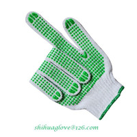 PVC double side dotted cotton gloves