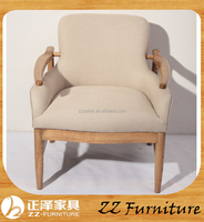 French style Living Room antique wooden lounge chairs