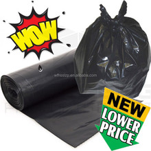 PE Plastic Type heavy duty contractor garbage trash bag/black bin liner/waste bags on roll