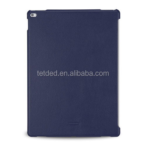 TETDED Premium Leather Case for Apple iPad Pro -- CaenA (LC: Navy Blue) for Keyboard Connector
