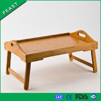 Bamboo Breakfast in Bed Serving Tray with Feet