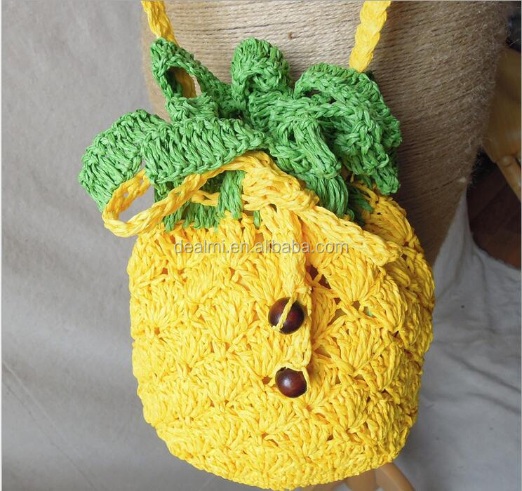 DEMI Wholesale casual straw bag beach bag pineapple shaped bag