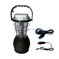 36LED Hand Crank Dynamo Camping Lantern Light Lamp Outdoor Solar Powered Bright