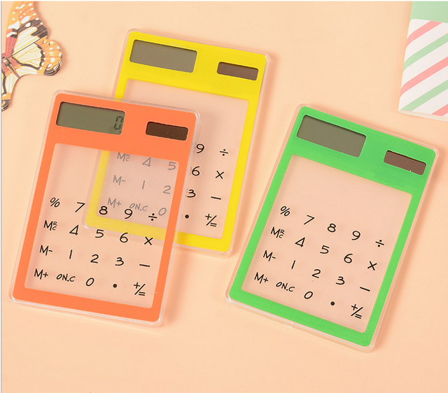 wholesale transparent calculator,acrylic solar calculator with 8 digit