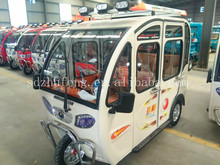 800W Enclosed Cargo Cabin Electric Tricycle With 3 Passenger Seat DM5