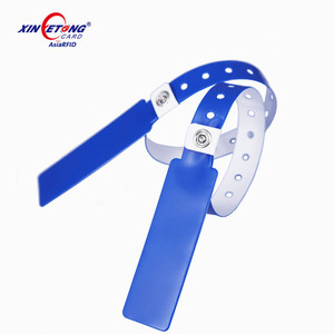 13.56 mhz Access NFC payment ticket PVC wristband NTAG213 / 215 /216 RFID bracelet for event