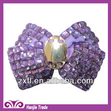 Wholesale chic crystal clip on shoe ornament for women