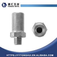 stainless steel 37 degree flare JIC to NPT thread adapter nipple fitting