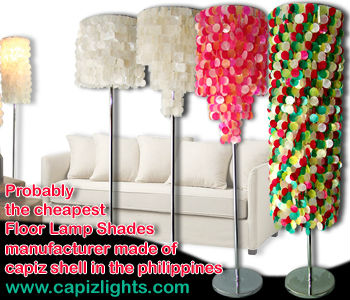 Capiz Product: Capiz Floor Lamps