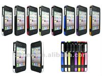 2013 newest design,luxury and fashion, Aircraft Aluminum bumper case for iphone 4 4g 4s