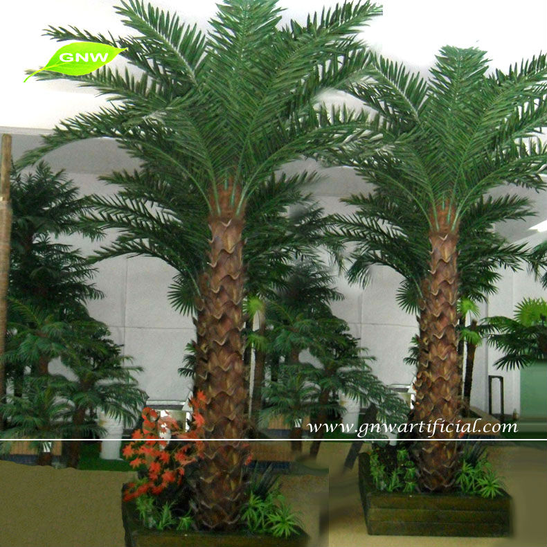 Gnw apm040 decorative tropical plants artificial palm for Palm tree decorations for the home