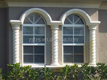 PVC Hung Window house design, Arch PVC window with grill