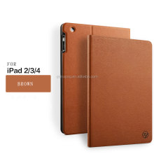 shockproof tree texture New business stand case pu leather case for ipad 2 3 4