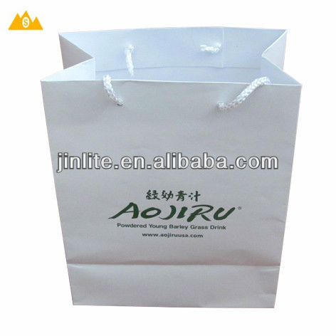 Promotional OPP lamination art paper shopping bag
