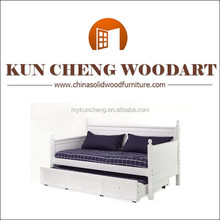 wood storage daybed wholesale bedroom furniture white finish wood day bed