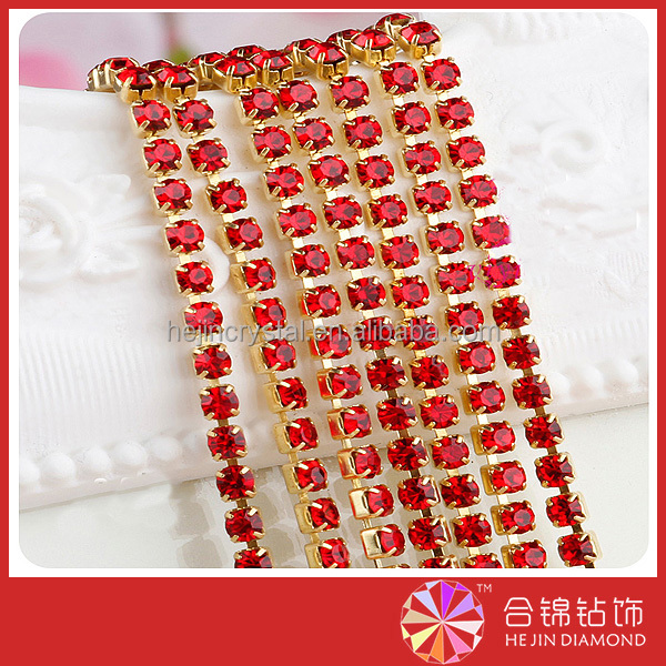 Wholesale point back close rhinestone trimming SS6/ SS8/ SS12 cupchain sew on garments accessories