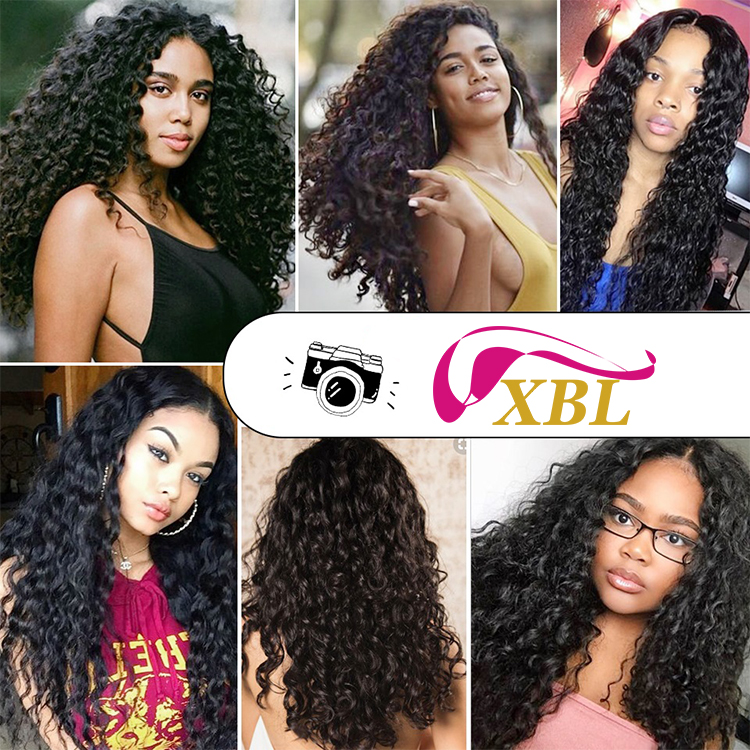 XBL New fashion wholesale factory cheap curly hair crochet braids with human hair blonde kinky curly hair weave