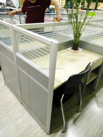 KD structure flat pack cheap metal office furniture partition and desk metal table