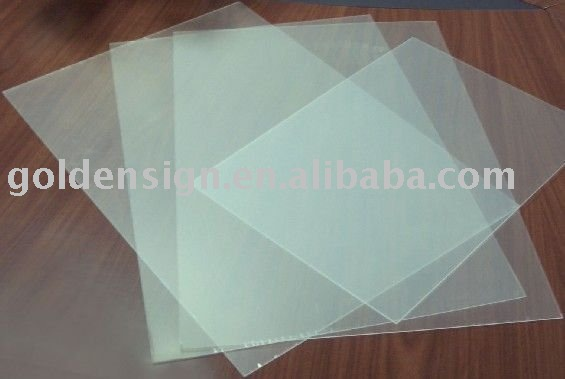Goldensign clear pvc rigid sheet(1.22*2.44m)