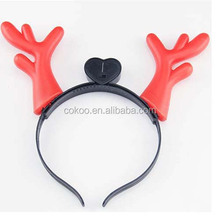 50 pcs Led Horns Flashing Novelty Light-Up Headband for Xmas Parties Headwear Party supplies Red