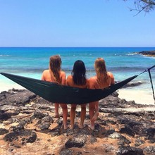 Single Hammock Multicolor Portable Travel Outdoor Camping Tourism Leisure Folding Hammock Garden Swing Set