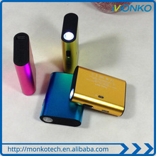 2015 New Promotional Gift Colorful Led Light Power Bank With Class A 18650 Battery