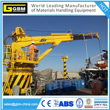 GBM 4T@ 30M offshore knuckle boom hydraulic telescopic crane manufacturer