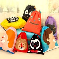 traveling waterproof clothes storage bag portable cartoon drawstring bag L 43*34cm