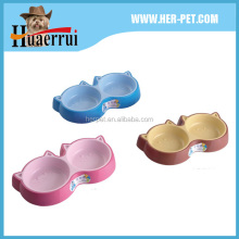Beautiful new design double plastic dog bowl