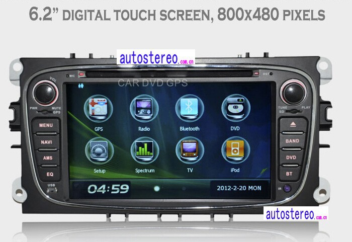 7 inch Car Stereo GPS Headunit Multimedia DVD Player for Ford FocusKuga Galaxy Mondeo S-Max C-Max car GPS Navigation Radio Sat