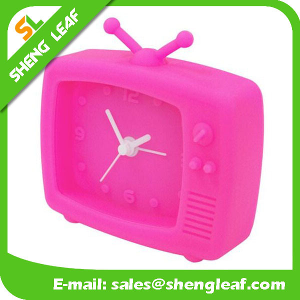 Mini TV shaped alarm clock silicone alarm clock